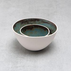 Pianca Ceramics - white ceramic bowl - unique pottery bowls - white bowl - white pot - handmade bowl - contemporary bowl
