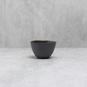Pianca Ceramics - small black ceramic bowl - ceramic berry bowl - black porcelain - black pottery - small black bowl - black house decor