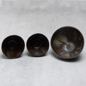 Pianca Ceramics - small black ceramic bowl - black porcelain - small black bowl -small black pot - black ceramic bowl