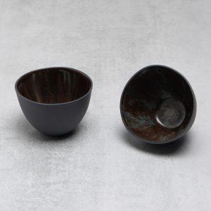 Pianca Ceramics - small black ceramic bowl - black pottery - black house decor - bowl black