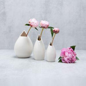 Pianca Ceramics - white ceramic vase - handmade home decor - white living room set ideas - White ceramic decorative accessories