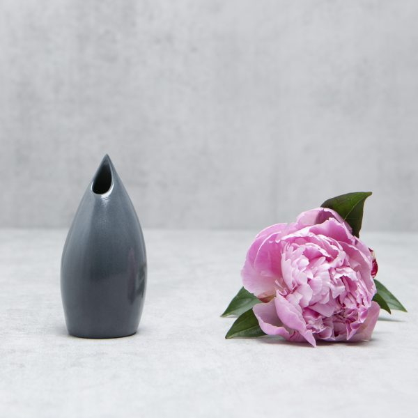 Pianca Ceramics - small black ceramic vase - contemporary black vase - black flower vase - charcoal vase