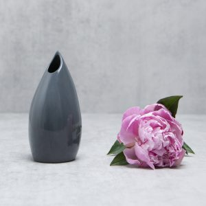Pianca Ceramics - black ceramic vase - modern black vase