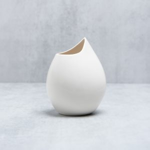 Pianca Ceramics - white porcelain vase - handmade house decoration - plain white vase - white table vase