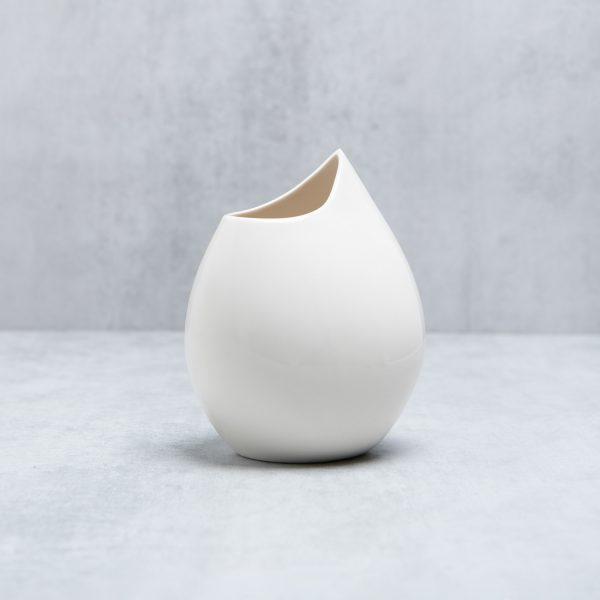 Pianca Ceramics - white porcelain vase - handmade house decoration - plain white vase - white table vase
