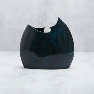 Pianca Ceramics - Cobalt Vase - blue art pottery