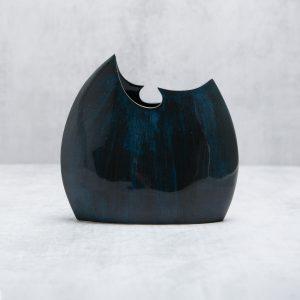 Pianca Ceramics -cobalt blue vase - bright blue vase - cobalt blue ceramic vase