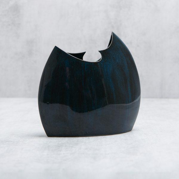 Pianca Ceramics - Cobalt Blue Ceramic vase - blue living room accessories