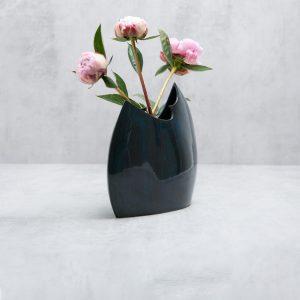 Pianca Ceramics - cobalt blue ceramic vase - blue decorative vases - fine cobalt vase