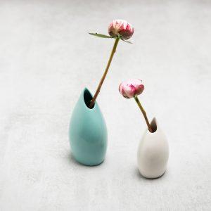 Pianca Ceramics - turquoise bud vase - aquamarine vase