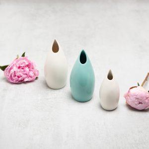 Pianca Ceramics - turquoise decorations - turquoise blue vase