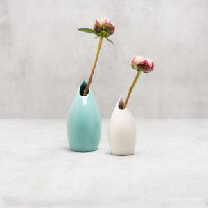 Pianca Ceramics - turquoise home decor - ceramic bud vase