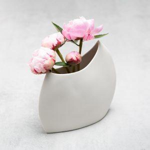Pianca Ceramics - modern white vase - italian home design