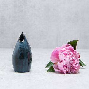 Pianca Ceramics - small blue ceramic vase - handmade blue vase