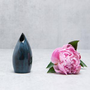 Pianca Ceramics - small blue ceramic vase - handmade blue vase