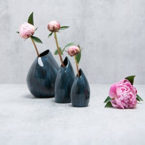 Pianca Ceramics - blue porcelain vase - ceramic vase blue - blue pottery vases online - dark blue ceramic vase - handmade blue vase - modern contemporary interior