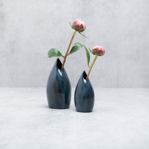 Pianca Ceramics - blue small vase - blue home office ideas - blue interior design ideas blue decorative vases