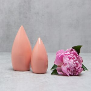 Pianca Ceramics - coral vase - coral pink decor - small pink ceramic vase - pink living room decor - blush room decor - coral decor