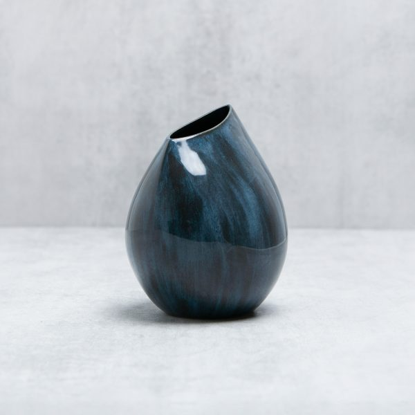 Pianca Ceramics - blue porcelain vase - navy ceramic vase