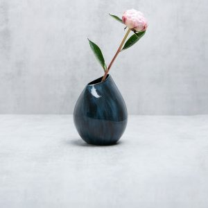 Pianca Ceramics - blue porcelain vase - midnight blue vase - contemporary luxury interior design - modern craftsman house interior