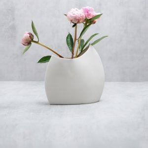 Pianca Ceramics - modern white vase - white pottery vase