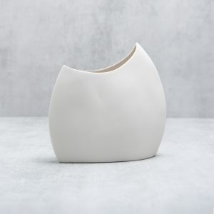 Pianca Ceramics - modern white vase - italian living room design - italian interior - home decor italy