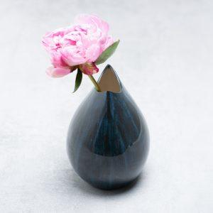 Pianca Ceramics - blue white ceramic vase - blue and white home decor