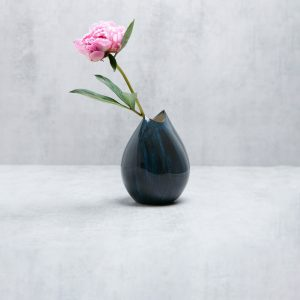 Pianca Ceramics - blue and white ceramic vase - blue and white italian pottery