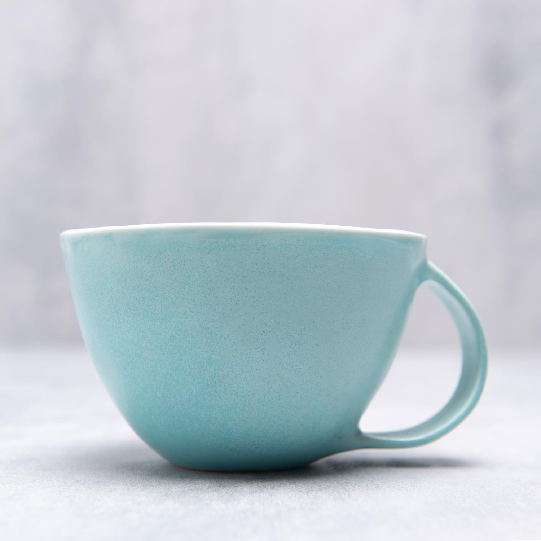 Blue Ceramic Cup Handmade By Pianca Ceramics