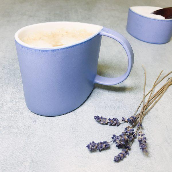 Pianca Ceramics - Purple ceramic mug - purple tea cup - violet mug - fine porcelain coffee mugs - porcelain art mug - coffee cup ceramic porcelain - cup porcelain - purple ceramic mugs - handmade pottery coffee mugs - mug violet