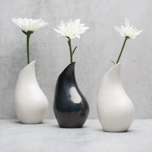 Pianca Ceramics - white vase design - pottery vases handmade - vase handmade - unique vases for centerpieces - - modern metallic vasewhite vase design