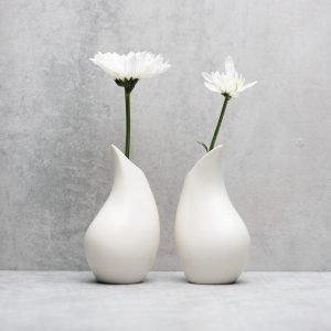 Pianca Ceramics - white vase design - pottery vases handmade - vase handmade - unique vases for centerpieces