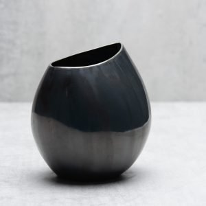 Pianca Ceramics - black metallic vase