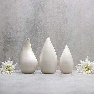 Pianca Ceramics - unique white vase - white vase design - satin vase