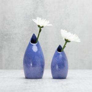 Pianca Ceramics - purple bud vase - violet vase