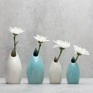 Pianca Ceramics - sky blue vase - sky blue ceramic vase