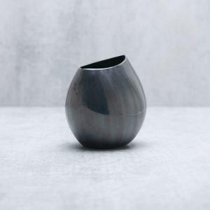 Pianca Ceramics - black metallic vase