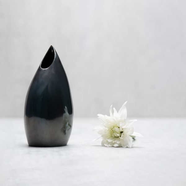 Pianca Ceramics - metallic flower vase